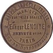 Token - Ernest Lemoine (Paris) – reverse