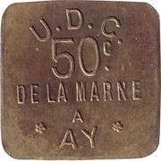 50 Centimes - UDC – reverse