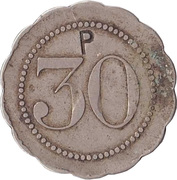 "30 Centimes (Countermarked ""P"") – obverse"
