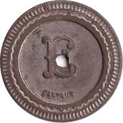 10 Centimes - Autom ques oudin – reverse