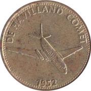 Shell Token - Flight and space flight (De Havilland Comet 1952) – obverse