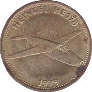 Shell Token - Flight and space flight (Heinkel He178 - 1939) – obverse