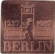 Medallie VEB Munze der DDR – reverse