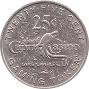 25 Cent Gaming Token - Isle of Capri Casino (Lake Charles, LA) – reverse
