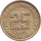 25 Cent Gaming Token - Pineapple Beach Club (Antigua) – reverse
