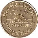 25 Cent Gaming Token - Pineapple Beach Club (Antigua) – obverse