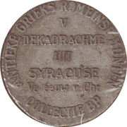 Token - Collectie BP (V; Dekadrachme uit Syracuse) – reverse