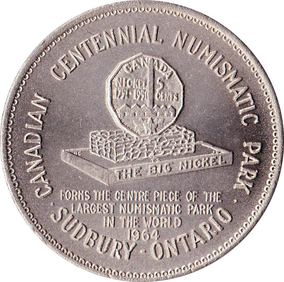 sudbury big nickel medallion tokens numista. Black Bedroom Furniture Sets. Home Design Ideas