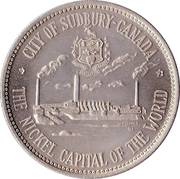 "Medallion - Sudbury ""Numismatic Park"" (""Big Nickel"") – reverse"