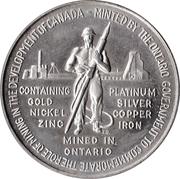 Medallion - Ontario Mining Industry (Canadian Centennial) – obverse
