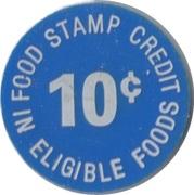 10 Cents - Food Stamp Credit (Zahares' IGA) – reverse