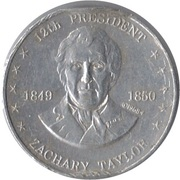 Token - Shell's Mr. President Coin Game (Zachary Taylor) -  obverse