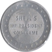 Token - Shell's Mr. President Coin Game (Zachary Taylor) -  reverse