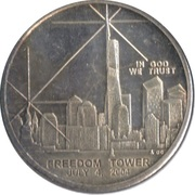 1 Dollar - Freedom Tower – reverse