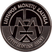 Lithuanian Mint Token - World Money Fair 2015 – reverse