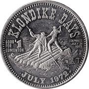 Klondike Dollar - Edmonton, Alberta – obverse