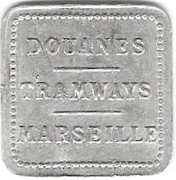 Douanes - Tramways - Marseille – reverse