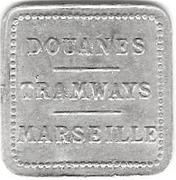 Douanes - Tramways - Marseille – reverse