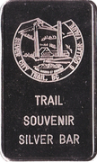 5 Dollars - Trail Souvenir Silver Bar (Silver City Trail, British Columbia) – obverse