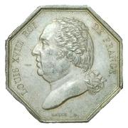 Jeton courtiers de commerce bourse de Paris - Louis XVIII – obverse