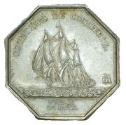 Jeton courtiers de commerce bourse de Paris - Louis XVIII – reverse