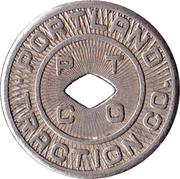 1 Fare - Portland Traction Co. (Portland, OR) -  obverse