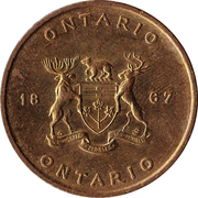 Shell Oil Token - Provincial Arms and Flowers (Ontario) – reverse