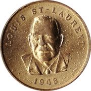 Shell Oil Token - Prime Ministers of Canada (1948 - Louis St-Laurent) – obverse