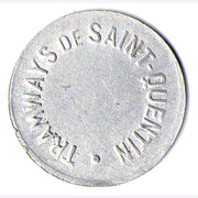 25 CENTIMES TRAMWAYS DE ST QUENTIN – obverse
