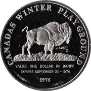 Indian Days Dollar - Banff, Alberta – reverse