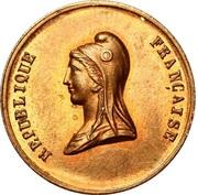 Jeton Fête du Champ de Mars - 14 mai 1848 – obverse