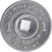 1 Mill - Sales Tax Token (Mississippi) -  reverse