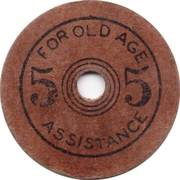5 Mills - Old Age Assistance (Oklahoma) – reverse