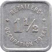 1½ Mills - Retailers' Occupation Token (Illinois) -  reverse