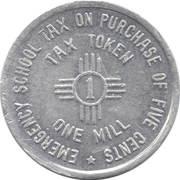 1 Mill - Emergency School Tax (New Mexico) -  reverse