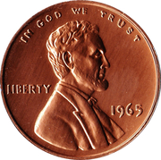 "Medallion - Sudbury ""Numismatic Park"" (US 1 Cent 1965) – obverse"