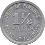 1½ Mills - Retailers' Occupation Token (Illinois) – obverse