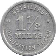 1½ Mills - Retailers' Occupation Token (Illinois) – reverse