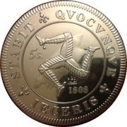 5 Shillings (George III Medallic / INA Retro Issue) – reverse