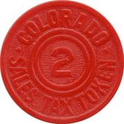 2 Mills - Sales Tax Token (Colorado) – reverse