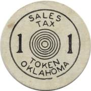 1 Mill - Sales Tax Token for Old Age Assistance (Oklahoma) – obverse