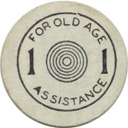 1 Mill - Sales Tax Token for Old Age Assistance (Oklahoma) – reverse