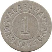 1 Mill - Sales Tax Token (Alabama) – obverse