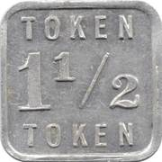 1½ Mills Token (Illinois) – obverse