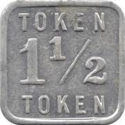 1½ Mills Token (Illinois) – reverse