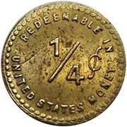 ¼ Cent - Jacksonville (Illinois) – reverse