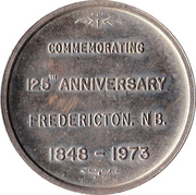 Medallion - Fredericton, New Brunswick (125th Anniversary) – reverse