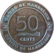 50 Cents - Casino de Mandelieu – obverse