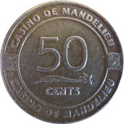 50 Cents - Casino de Mandelieu – reverse