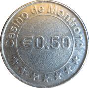 50 Cents - Casino de Montrond – reverse